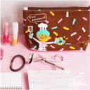 ◆かわいい ポーチ【ドーナッツ】化粧ポーチ,マチ付きポーチ