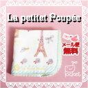 La Petite Poupee ガーゼハンカチ【プペホテル/水色のバラ 22cm】かわいいタオル ハンカチ日本製★メール便送料無料★