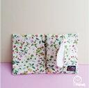 ◆かわいい ティッシュポーチ【イチゴと野花 レッド】マスクポーチいちご・花柄