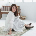 Seven minutes sleeve embroidery race cotton blouse [003012] [10P11Jun13]