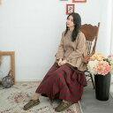 ボトムス スカート コットン レディース チェック柄 ロング レッド 赤 ロングスカート 綿100% コットン100% 天然素材