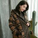 コート ダッフルコート 圧縮 ウール レディース チェック柄 ロング 長袖 ベージュ ベイジ 刺繍 レース ウール100%
