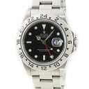 ロレックス ROLEX エクスプローラー2 16570 U番 メンズ 腕時計自動巻き ブラック 【中古】【店頭受取対応商品】
