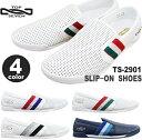 トップセブン スニーカー TOP SEVEN TS-2901 WHT/RED/NVY WHT/BLK/GRY WHT/GRN/RED NVY/SAX/NVYスリッポン 靴 スリッポンシューズ