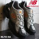 ショッピングランニング ニューバランス ML703 BA BLACK/ORANGEnew balance ML703BAスニーカー メンズ アウトドア トレイル ダッド系
