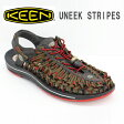 KEEN サンダル メンズMERRELL UNEEK STRIPES 1014620 RED DAHLIA/RAYA並行輸入品
