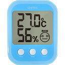 ドリテック(dretec) デジタル温湿度計「オプシスプラス」 ブルー O-251BL 【CP】