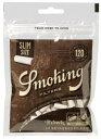 【Smoking】スモーキング スリムフィルター 手巻きタバコ用 フィルター ブラウン 無添加 無漂白 無香料 直径約6mm 長さ約15mm 120本 手巻きタバコ 手巻きたばこ 手巻き煙草
