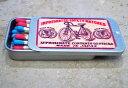 【ナカムラマッチ】レトロラベル スライド缶マッチ自転車003 通常マッチ棒