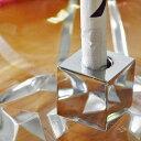 【瞬間火消し】タバコ消し SMOKECUT スモーキングカット クロームメッキ 正方形 SV4