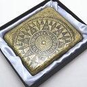antique - アンティーク古美 羅針盤 アンティークコンパス シガレットケース 85mm 20本 タバコケース たばこケース 煙草ケース シガレット ケース
