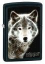 【US流通品】WHITE WOLF BLACK MATTE zippo ジッポー 28303 ウルフ 狼