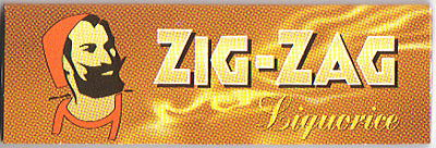 【ZIG-ZAG】ジグザグ ペーパー リコリス 手巻きタバコ 手巻きタバコ用 巻紙 シングルサイズ 69mm 50枚入 zigzag