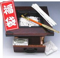 キセル入門5点セット煙草盆(たばこぼん)雅灰皿(小)煙管付【プレゼントにも、最適】
