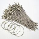 【大人買い100本セット】携帯灰皿 携帯電話等の取り付けに、ワイヤーリング 直径4.5cm 長さ約15cm