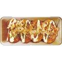 【缶ペンケース】たこ焼き デザイン柄 ブリキ缶 カンペンケース 焼きたてのたこやき