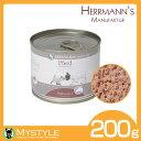 ヘルマン ビオ クリエイティブ ミックス ピュア馬肉 200g100%有機 ウエットフード 缶詰 グレインフリー 穀物不使用 犬猫兼用 無添加
