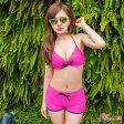 水着 レディース ビキニ ショートパンツ セクシー 通販 mizugi swimwear みずぎ 女性 大人 可愛い 激安水着 リゾート ホルターネック セット ワイヤービキニ 大きいサイズ ピンク 安い