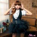 コスプレ ロリィタ ゴスロリ ブラウス セクシーダンス衣装 パニエ 黒 白 フリル 女性