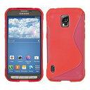 GALAXY S5 ACTIVE TPU グリップカバーケース ( docomo SC-02G / Samsung ギャラクシーS5 アクティブ スマートフォン 対応 ) 薄型軽量 / 滑止め加工 / ソフトフィットモデル / 半透明クリア【MY WAY 出品カラー全4色】 (Design S red (赤))