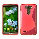LG G3 Beat TPU グリップカバーケース [ エルジー ジースリー ビート UQ Mobile LG-D722J SIMフリー 対応 ] 薄型軽量19g / 滑止め加工 / ソフトフィットモデル / 半透明クリア【MY WAY 出品カラー全5色:簡易防水パッケージ】 (LG G3 Beat, Design S Red (赤))