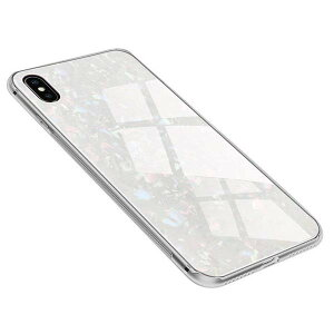 iPhoneXR ケース カバー ガラス 高級 大理石 耐衝撃
