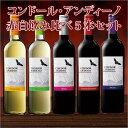 【半額】【50%OFF】コンドール・アンディーノ赤白飲み比べ5本セット [赤ワイン][白ワイン][ワインセット][赤:フルボディ][白:辛口] 【7777105】