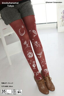 Horoscope pattern (toes through, 35 deniers and front legs patterned) ♪ 1050 yen buying and selection in ♪ pattern tights pattern sheer tights tattoo stockings tights tights tattoo tattoo stockings tattoo stocking tattoo tights!-z fs2gm
