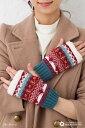 あったか内側ボア仕様 ウィンターマリン柄アームカバー(全3色) 手袋 レディース tights stocking
