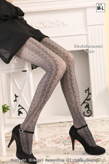 Lace pattern stockings B (black & grey ) ♪ 1050 yen buying and selection in ♪ pattern tights pattern pantyhose sheer tights pantyhose tights Womens wedding party stocking tights ladies!-z fs2gm