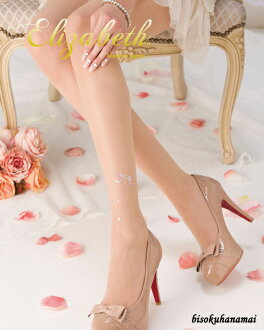 スイートアンクレット pantyhose ( left foot patterned, with stone) ♪ with purchase at select ♪ pattern tights pattern pantyhose sheer tights tights stockings pattern luxury made in Japan party wedding stocking tights ladies!-z fs3gm