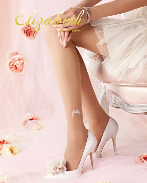 With organdy Ribbon stockings ( left foot with Ribbon with stone) ♪ with purchase at select ♪ pattern tights pattern pantyhose sheer tights tights stockings pattern luxury made in Japan party wedding stocking tights!-z fs3gm