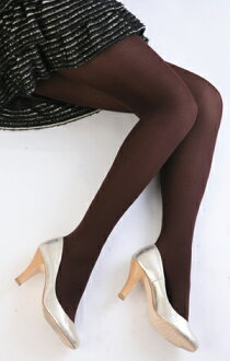 Color tights (dark brown) ♪ 1050 yen buying and selection in ♪ thick ladies stocking tights ladies!-z fs2gm