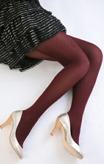 Color tights (dark red) ♪ 1050 yen buying and selection in ♪ thick ladies stocking tights ladies!-z fs2gm