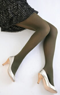 Color tights (khaki) ♪ 1050 yen buying and selection in ♪ thick ladies stocking tights ladies!-z fs2gm