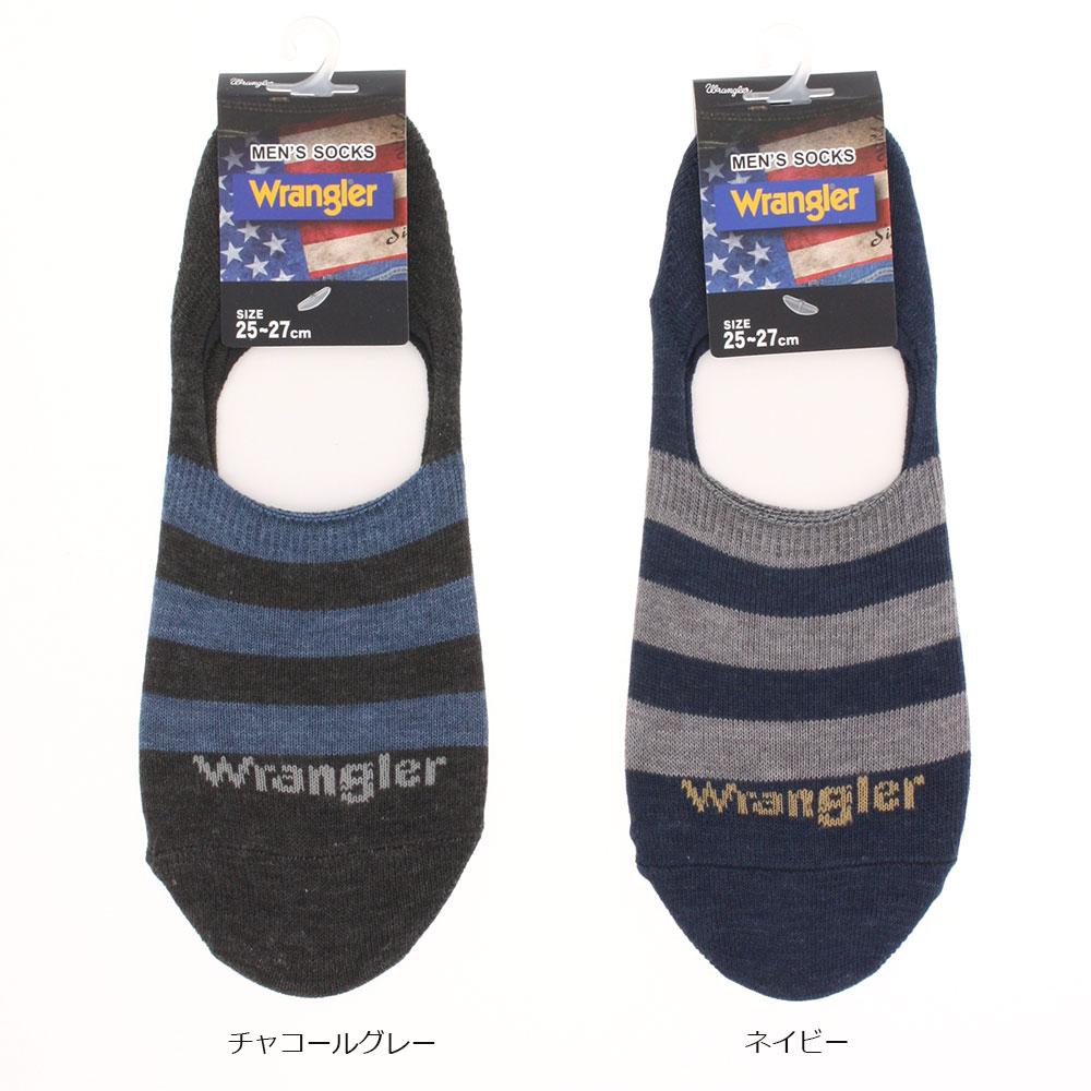 WRANGLER フットカバー 甲ライン 25-27cm メンズ ソックス foot cover mens socks