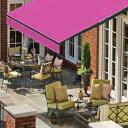 オーニングテント 幅3m×張出2m ヴィヴィットピンク 黒フレーム 折り畳み 伸