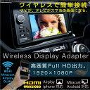 インターフェイスアダプター wifi 無線 ワイヤレス HDMI 車載ナビ TVワイヤレス ディスプレイアダプター 高画質 1080P ミラーリング スマートフォン スマホ タブレット iphone ipad AirPlay Android Miracast 動画 youtube 音楽 USB/ _43148