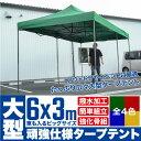 テント タープテント 6m×3m 大型/BIG 選べる4色 ...