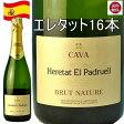 エレタット・エル・パドルエル ブリュットナチューレ 16本 スパークリングワイン 750ml 辛口 スペイン【スパークリング 泡 発泡】