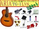 【満足な11点セット】ARIA/アリア TG-1/TG1 LVS/ライトヴィンテージサンバースト 小ぶりなアコースティックギター【RCP】【P2】