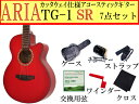 【嬉しい7点セット】ARIA/アリア TG-1/TG1 SR/シースルーレッド 小ぶりなアコースティックギター【RCP】【P2】
