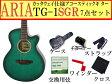 【嬉しい7点セット】ARIA/アリア TG-1/TG1 SGR/シースルーグリーン 小ぶりなアコースティックギター【レビューを書いてプレゼント!】【RCP】【P2】