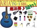 【完璧15点セット】ARIA/アリア TG-1/TG1 SBL/シースルーブルー 小ぶりなアコースティックギター【RCP】【P2】
