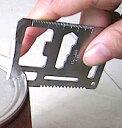 樂天商城 - DCMR サイクル&アウトドア 11 種類 の 機能 搭載 コンパクトカード 型 サバイバル マルチ ツール ( 定規 のこぎり 缶切り 栓抜き ナイフ ドライバー 方向指示 )