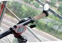 DCMR 【黒】自転車 ハンドル ミラー スポーツタイプ コンパクト ワンタッチ バンド 固定 360度 回転
