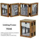 フォトフレーム リンキング フレーム Linking Frame TEAK L版 写真立て 複数