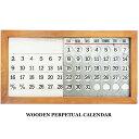 RoomClip商品情報 - 万年カレンダー Wooden Perpetual Calendar 万年カレンダー 壁掛け 置き 木製 アンティーク