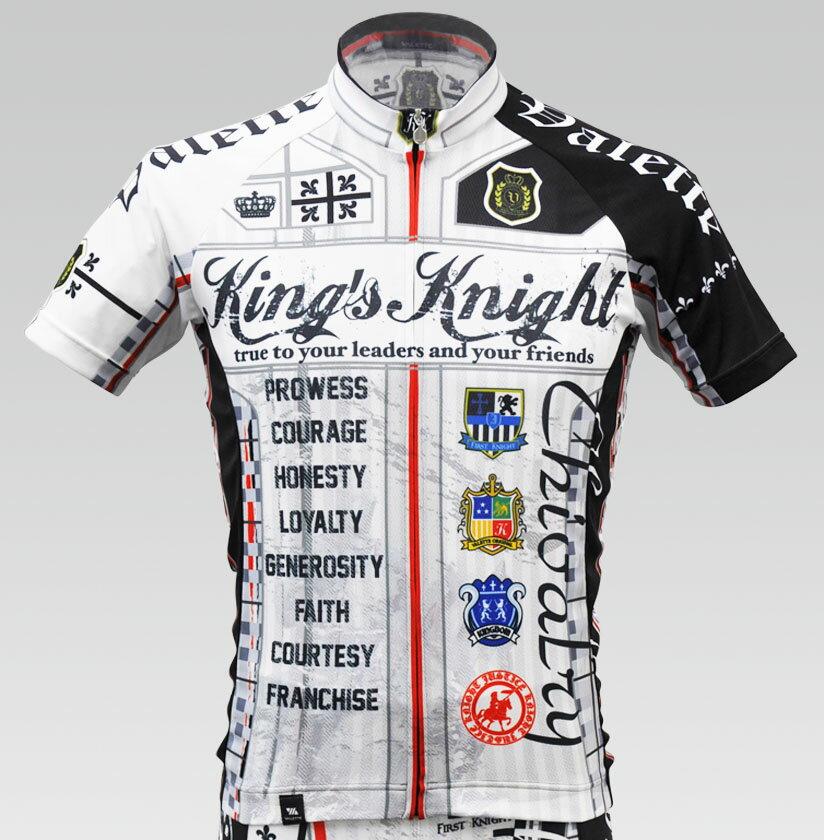 【VALETTE/バレット】King's Knight White(キングスナイト ホワイト) 半袖【サイクルジャージ/サイクルウェア/自転車/レプリカ/サイクル/ロードバイク/ウェア/ユニフォーム/ランニングウェア/フィットネスウェア】 サイクルウェアブランド【バレット】半袖ジャージサイクルウェア/サイクルジャージ/ロードバイク
