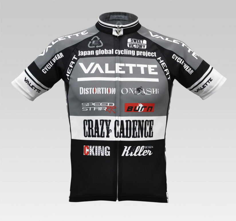 【VALETTE/バレット】SPEED (スピード)Gray(グレー) 半袖 VALETTE A-LINE【サイクルジャージ/サイクルウェア/自転車/レプリカ/サイクル/ロードバイク/ウェア/ユニフォーム/ランニングウェア/フィットネスウェア】 【バレット】半袖ジャージ VALETTE A-LINEサイクルウェア/サイクルジャージ/ロードバイク